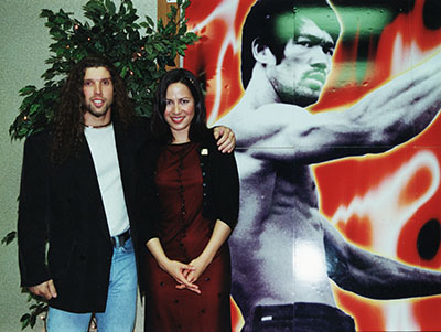 Marcel van Dongen en Shannon Lee, daughter off Bruce Lee